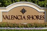 sign at entrance to the top rated Valencia Shores community in Lake Worth, FL